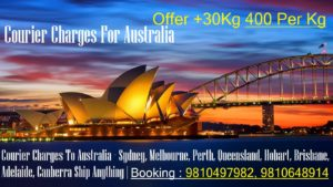 COURIER PARCEL CHARGES TO AUSTRALIA FROM DELHI