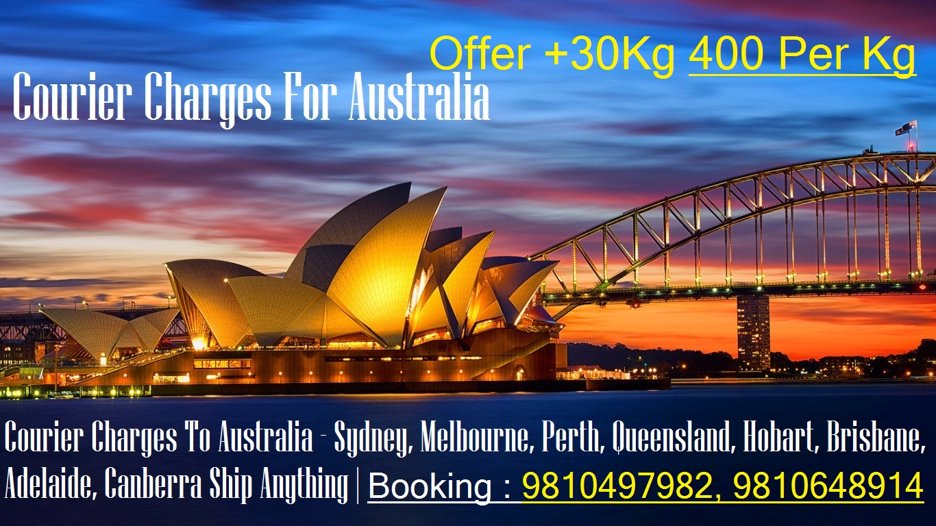Courier Charges For Brisbane From Delhi