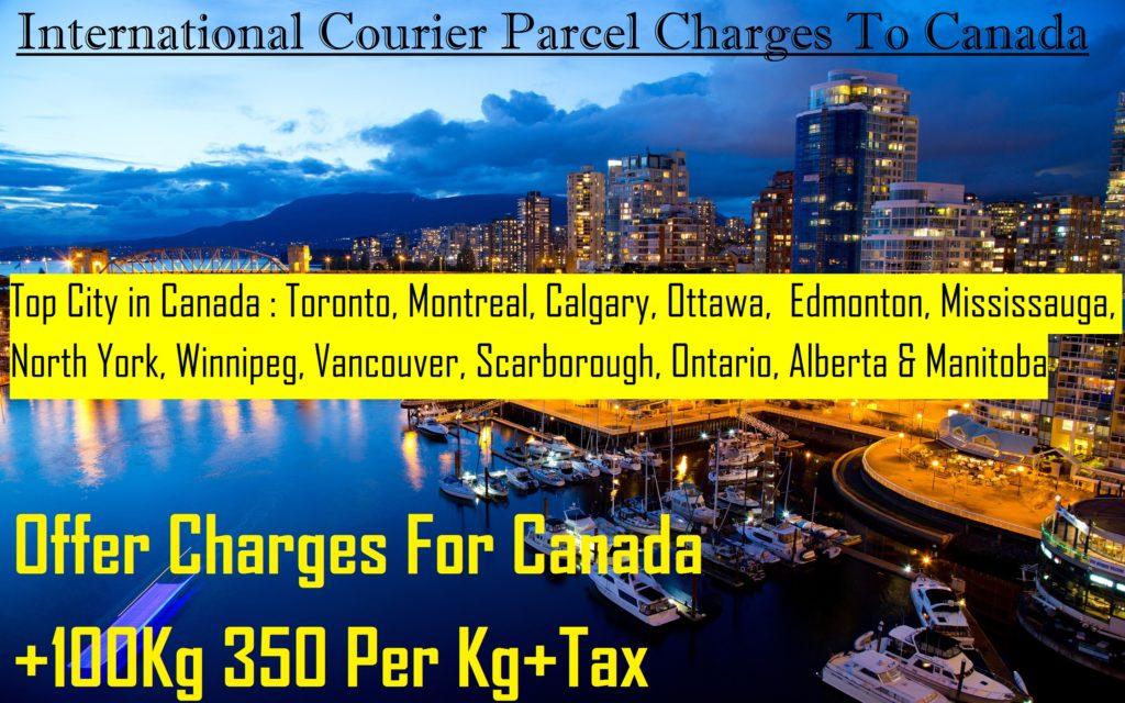 COURIER CHARGES TO Ottawa FROM DELHI |COURIER SERVICES FROM DELHI TO Ottawa