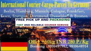 Courier Charges To Germany From Delhi, Noida, Faridabad, Ghaziabad, Sahibabad, Jaipur & Mumbai