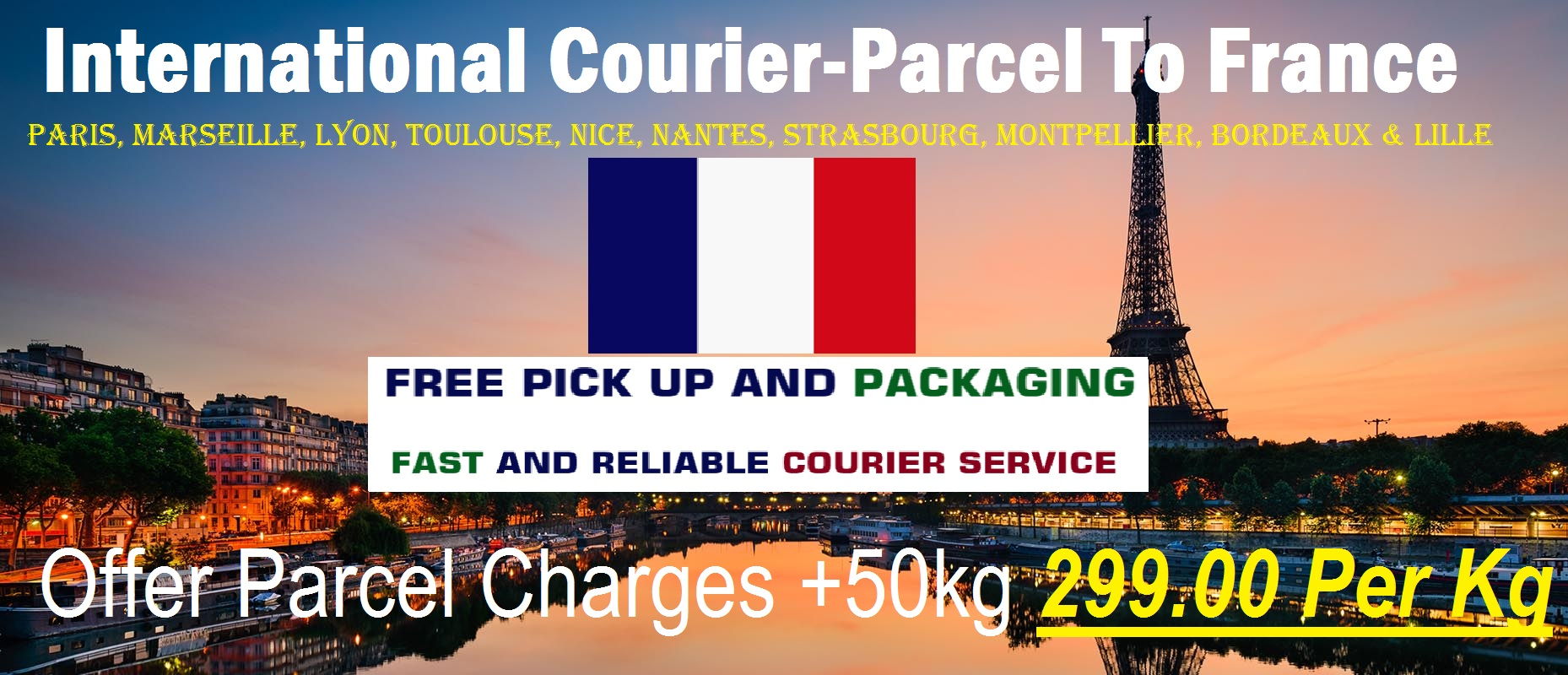 Courier Charges For France From Delhi