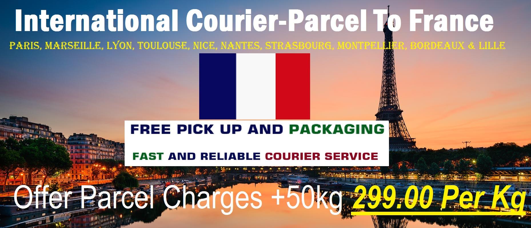 Courier Charges To Toulouse From Delhi, Noida, Faridabad, Ghaziabad, Sahibabad, Jaipur & Mumbai