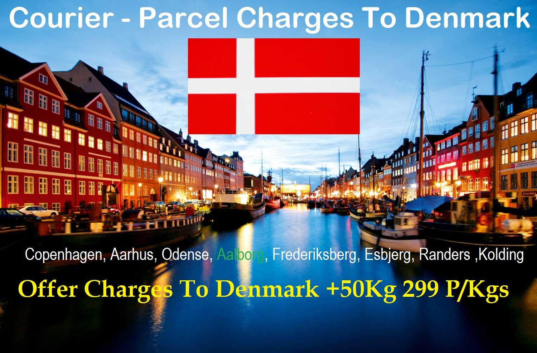 Courier Charges To Denmark From Delhi, Noida, Faridabad, Ghaziabad, Sahibabad, Jaipur & Mumbai
