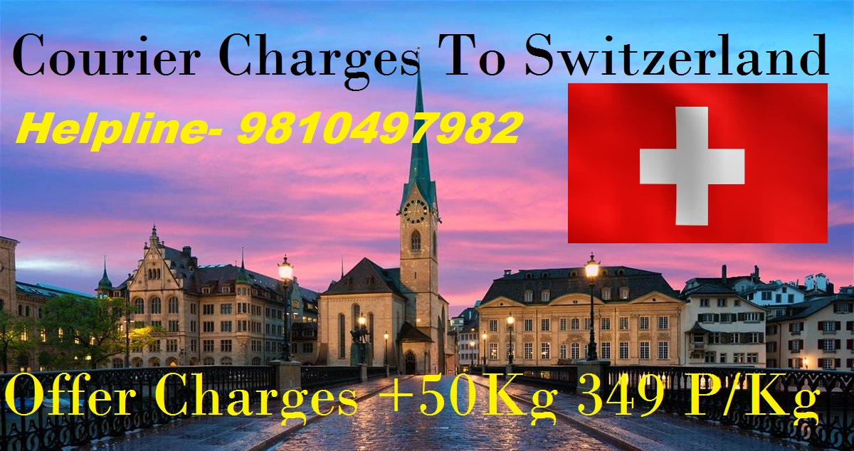 Courier Charges For Zurich From Delhi
