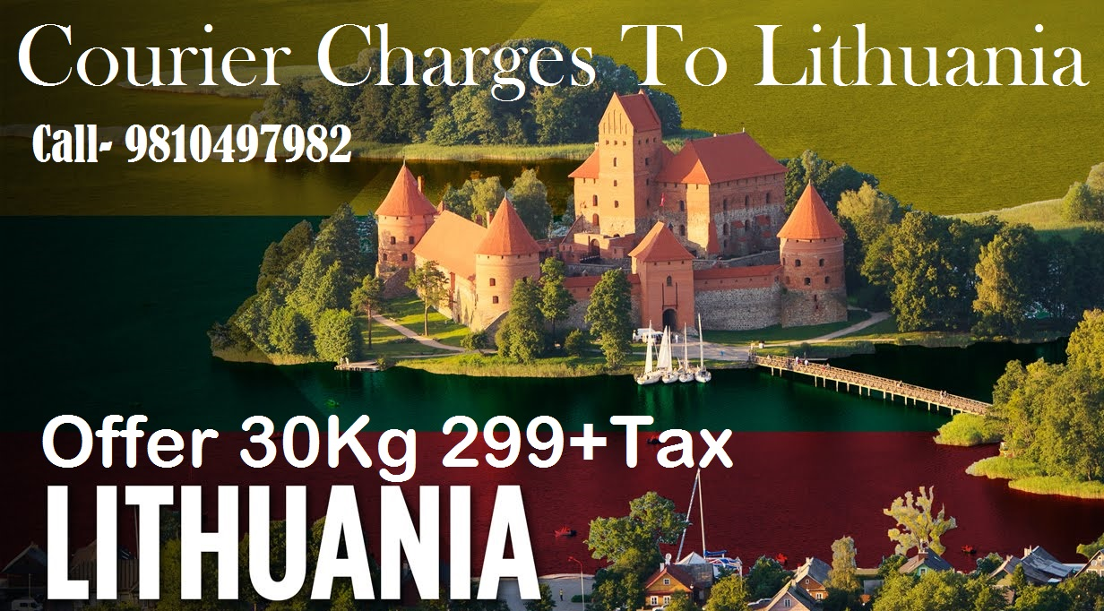 Courier Charges Lithuania From Delhi