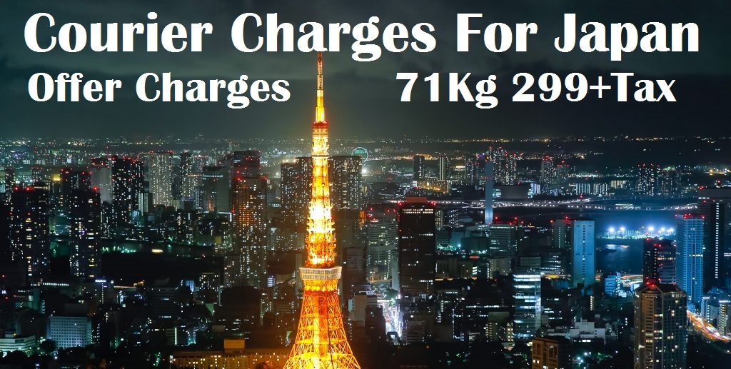 Courier Charges Nagoya From Delhi