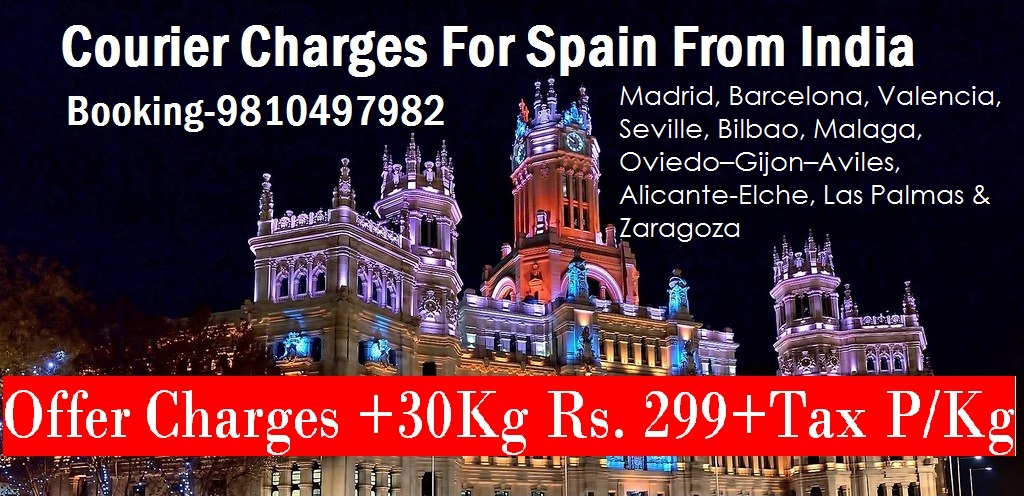 Courier Charges For Malaga From Delhi