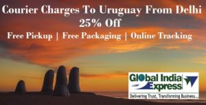 Courier Charges To Montevideo From Delhi