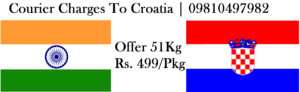 Courier Charges To Croatia From Delhi