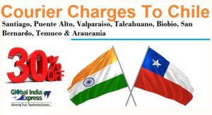 Courier Charges To Santiago From Delhi