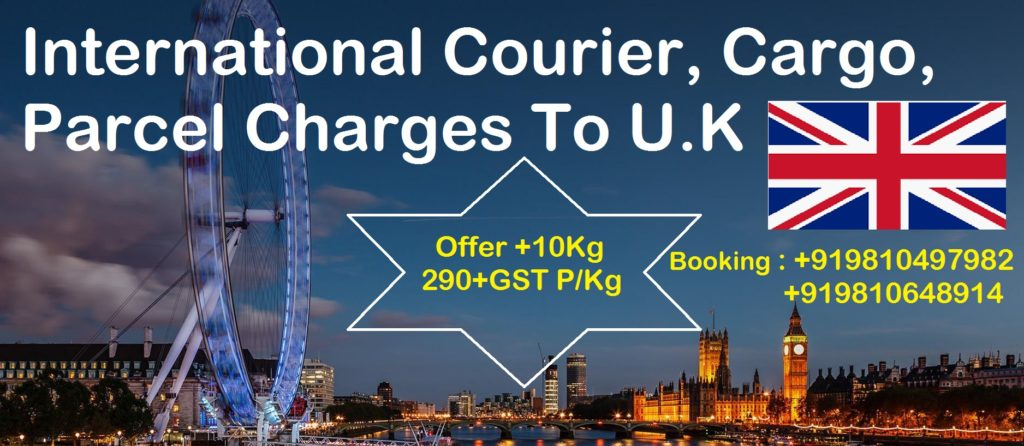 Courier Charges For UK From Delhi