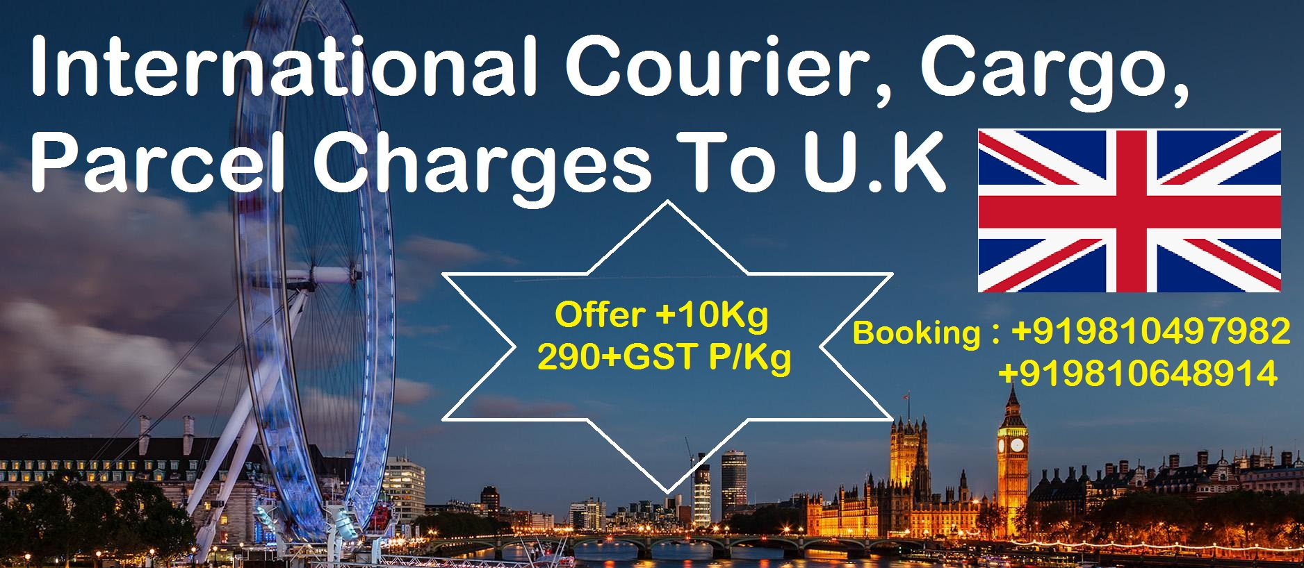 Courier Charges For Rochester-upon-Medway From Delhi